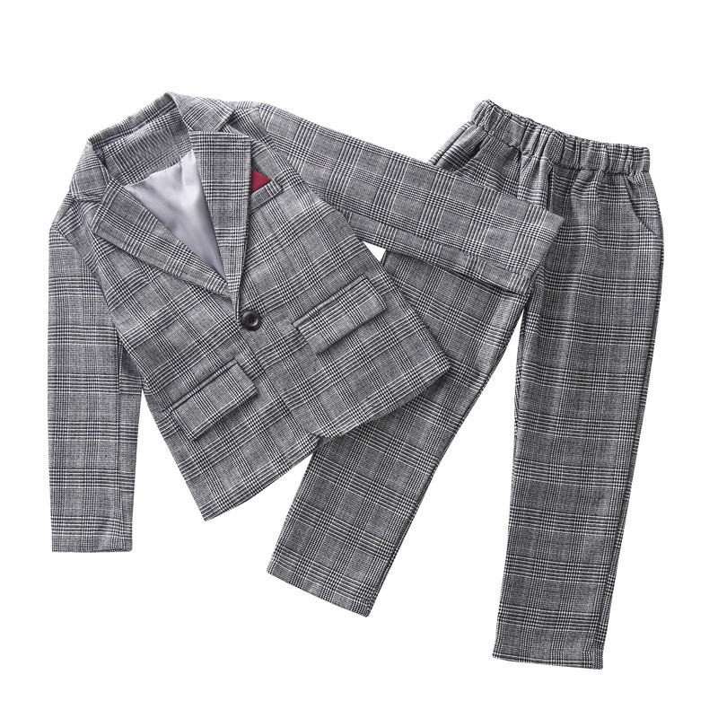 Image 3 - Teenage Girls Clothing Set Autumn Girls Plaid Suit Jackets +Pants School Tracksuit Girls Clothes Children Clothes 8 10 Year-in Clothing Sets from Mother & Kids