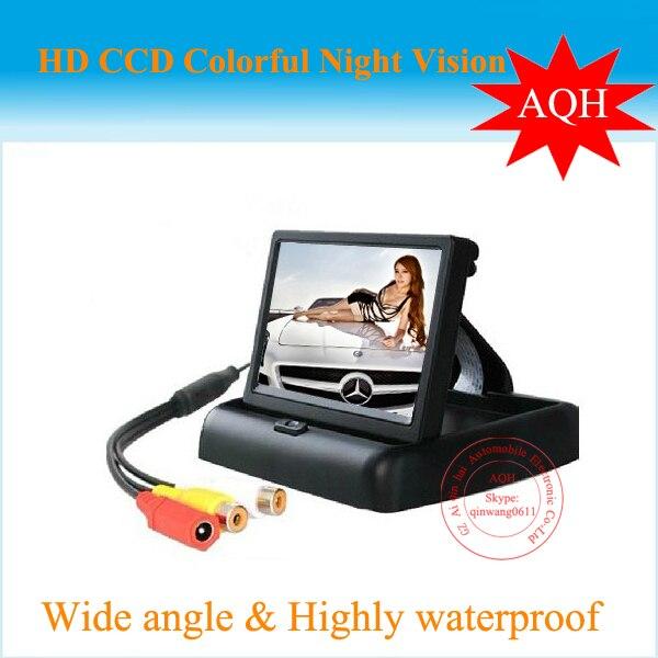 4.3inch TFT LCD Car Monitor Car Reverse Backup Camera Car Monitor free shipping ---promotion!!!!