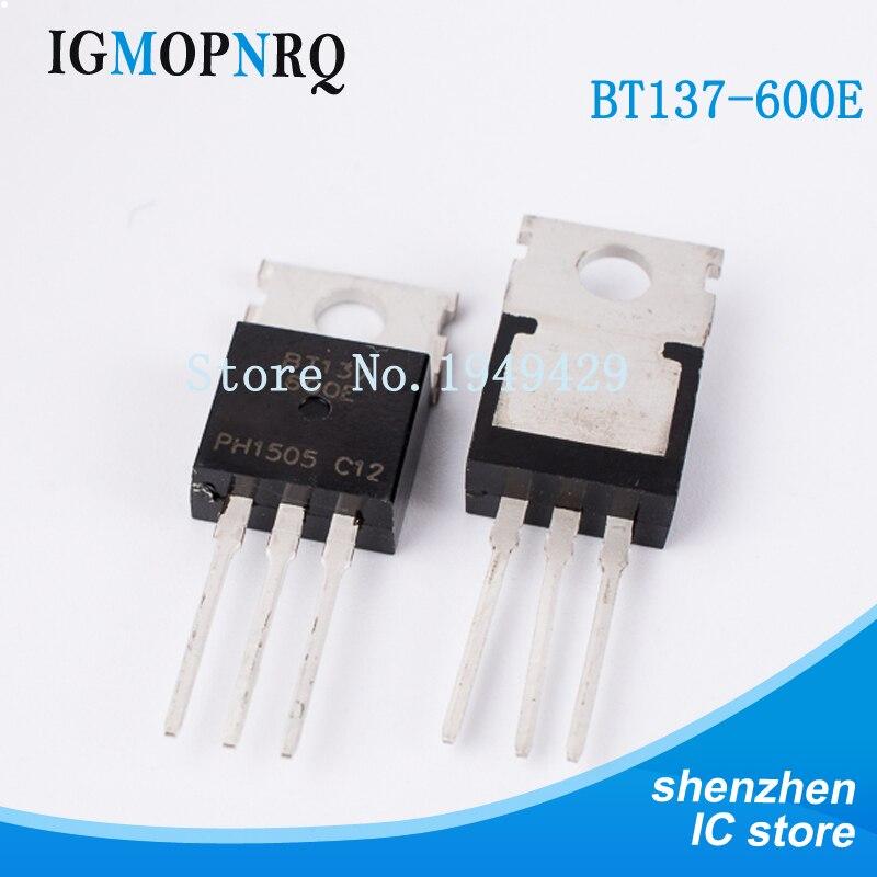 10000PCS/lot BT137-600E BT137-600 TO-220 BT137 Triac BL Bipolar Production