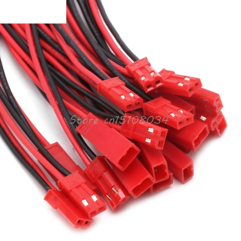 10 Pairs 150mm Connector For <font><b>JST</b></font> Plug Line Cable Male+Female For RC BEC Lipo <font><b>Battery</b></font> #S018Y# High Quality