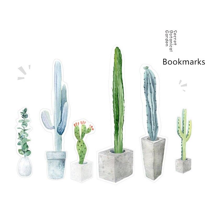 Купить с кэшбэком 30 pcs Secret garden bookmarks for book marker Botanical herbs flower bookmark Stationery items School supplies marcadores FC751