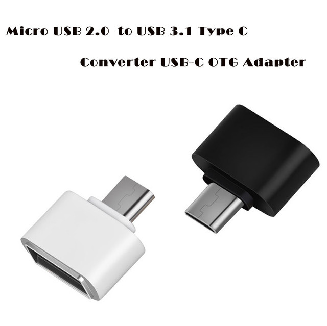dfa14783d0a Micro USB 2.0 Female To USB 3.1 Type C Male Converter USB-C OTG Adapter
