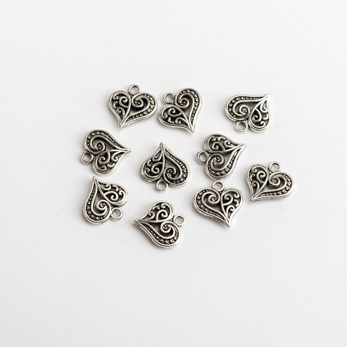 Metal Heart Pendant  Jewelry Accessories DIY Jewelry Making Findings Handicraft Accessories For Jewelries Needlework #JZ401