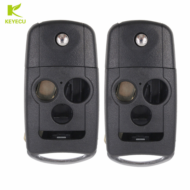 KEYECU 2pcs Replacement New Folding Remote Key Shell Case