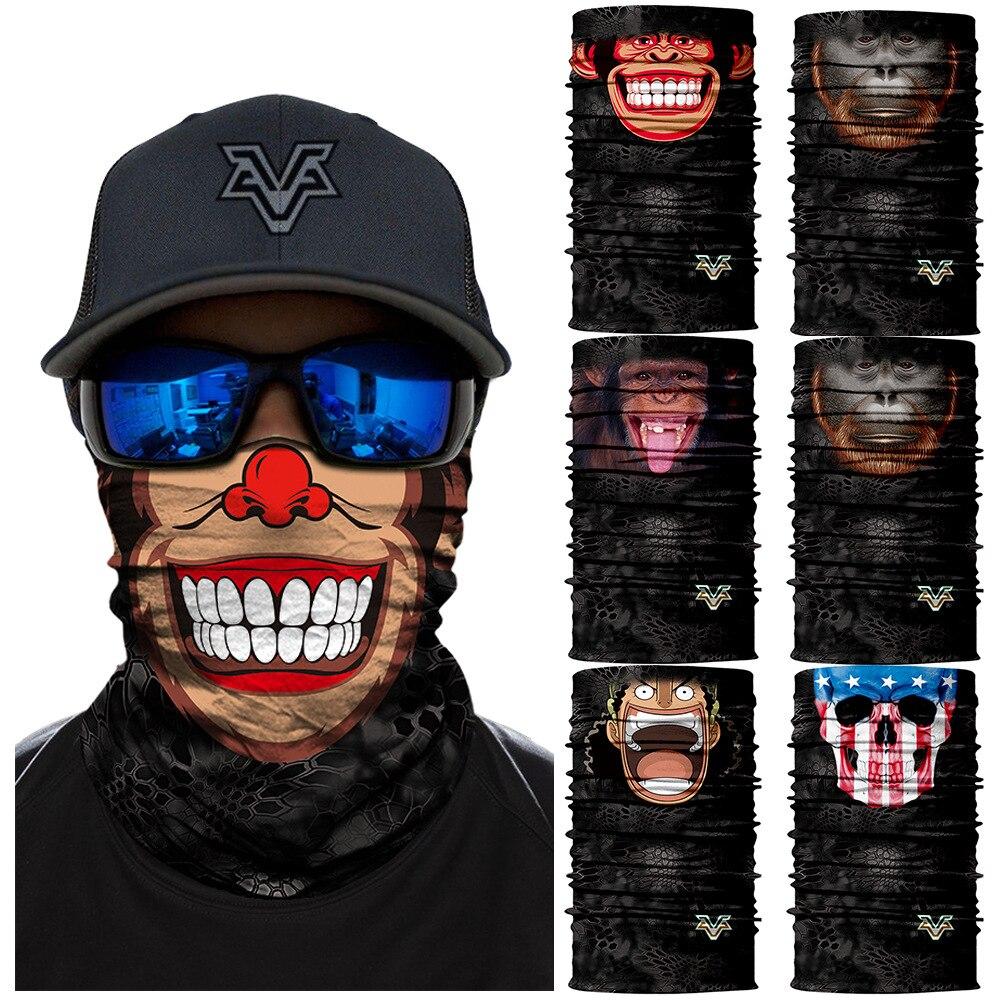 3D Seamless Headband Monkey Style Face Mask Cycling Magic Animal Camouflage Bandana  Ski Magic Military Outdoor Bandana Headwears 3c0ee9aa8798