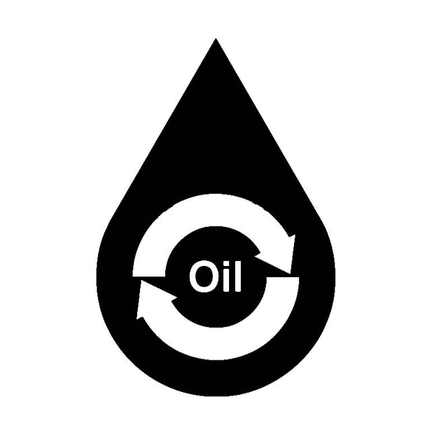 Recycle Oil Symbol Environmental Energy Conservation Theme Car
