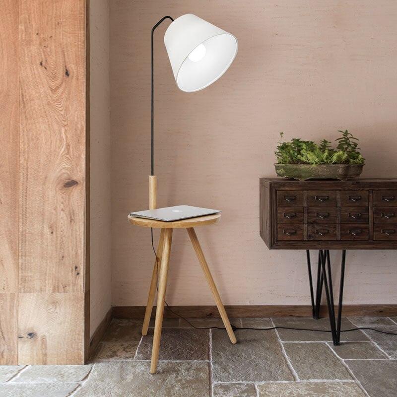Nordischen Stil Stehlampe Leuchtet Eichenholz Tisch Einfache Mode Design Lichter Fur Wohnzimmer Land Haus Bar Hotel In