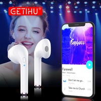 GETIHU Mini Twins Bluetooth Earphone Headphone Phone Sport Headset Earpiece Stereo Wireless Earphones Headphones For IPhone
