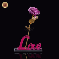 Pink Color Rose Artificial Decorative Flowers In Love Design Display Stand