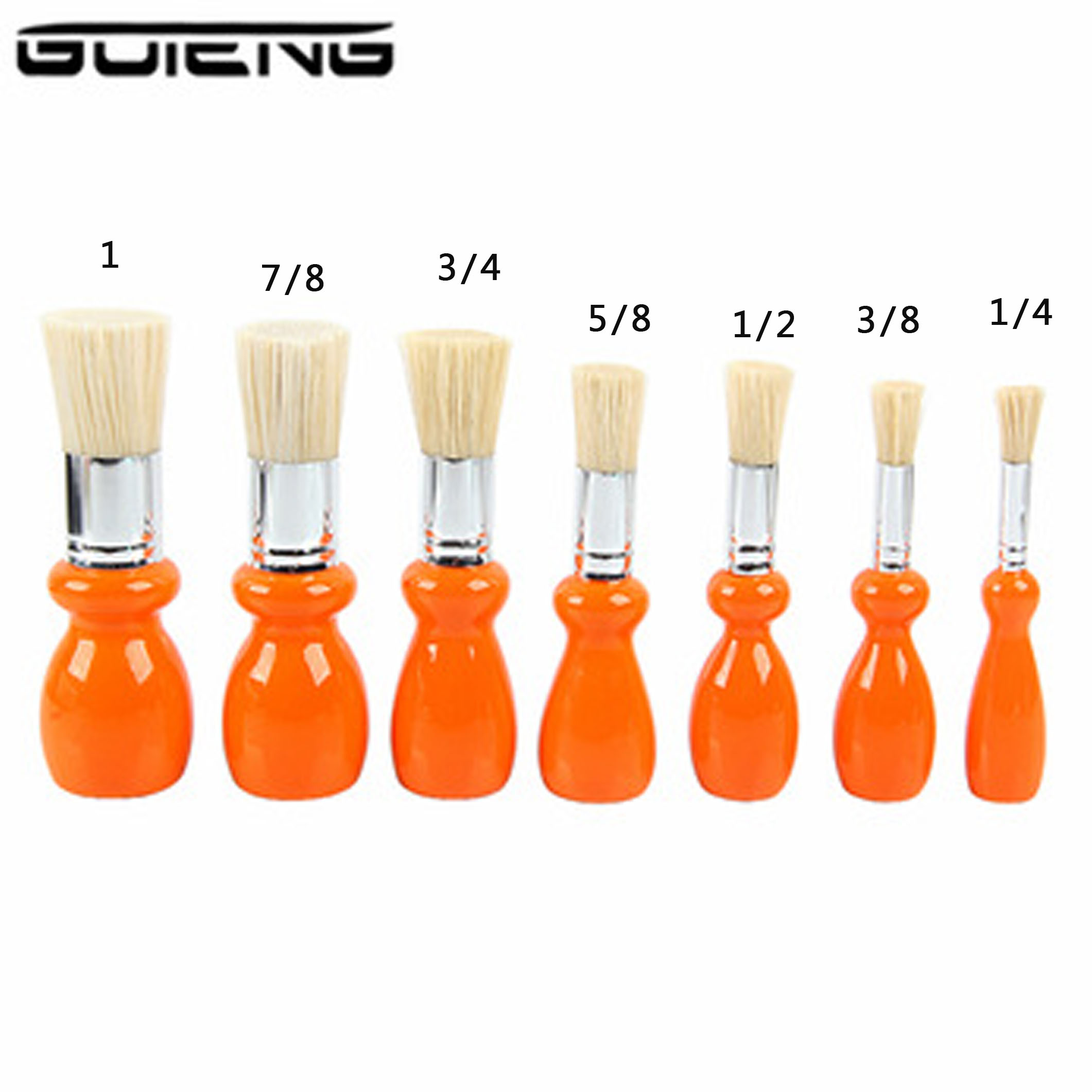 Guteng Bristle Paint Brush Wooden Handel Round Pig Hair Brushes For Watercolor Oil Gouache Acrylic Painting School Offuce Supply