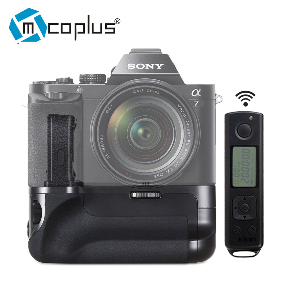 Mcoplus Venidice VD-AR7 Vertical Battery Grip for Sony A7 A7r A7s with 2.4G Wireless Remote Control as Meike MK-AR7 neewer meike battery grip for sony a6300 camera built in 2 4ghz remote control work with 1 or 2 np fw50 battery