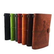 Купить онлайн Ruize винтажный скетчбук Пустой Журнал кожаные тетради Traveler журнал записная книжка многоразового Творческий канцелярские подарок