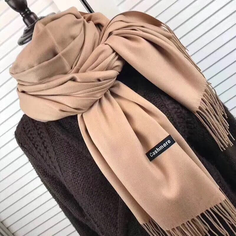 Wholesale 24 Solid Color All Match Shawls Soft Women's Autumn Winter Fashion Cashmere Pashima Shawl   Scarfs     Wrap   Warm 120513