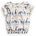 Moda t-shirts para meninas tecido de algodão Japão estilo bebê 2y 3a 4a 5a 6a 7y roupas femininas tops t curto manga