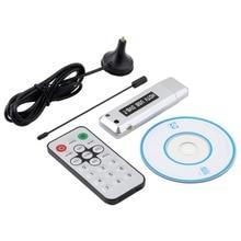 USB 2.0 DVB-T Recepción de ancho de Banda (6/7/8 MHz) de Radio TV Digital Receptor Sintonizador HDTV Palo antena de IR Remoto Time-shifting