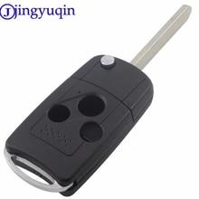 jingyuqin 3 Buttons Modified Blade Folding Car Key Shell Flip Remote Car Key Case For Honda Accord Fit Flip Car Key Cover