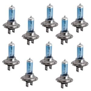 Image 5 - CARCHET 10PCS 12V 100W  White 6500k  Blue Car Head Light Lamp Bulbs Sponge H7 car lights 12V Universal Car headlight