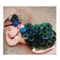 Bebê recém-nascido Menina Anjo Artesanal Pena com Headband Fotografia Props Infantil Bebê Fotografia Chapéus Define Traje Outfits Presente
