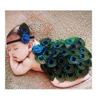 Newborn Baby Girl Pluma Del Ángel con Diadema accesorios de Fotografía Trajes de Bebé Infantil de Cumpleaños Lanzamiento de Foto de la Foto Accesorio