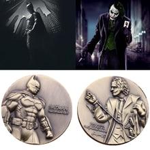 Batman Commemorative Coin Dark Knight Cosplay Prop Accessories Joker 3D Double Commemorative Coins