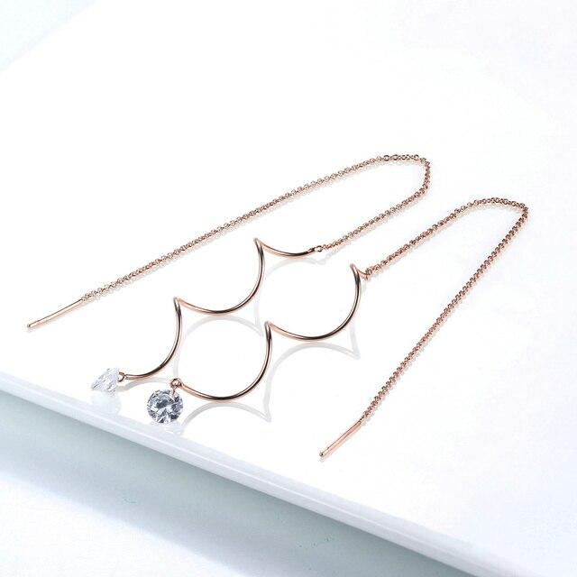 Double Fair Fashion Metal Bar Wave Dangle Earrings For Women Party Jewelry Rose Gold Color Long.jpg 640x640 - Double Fair Fashion Metal Bar Wave Dangle Earrings For Women Party Jewelry Rose Gold Color Long Tassel Earrings DFKC170
