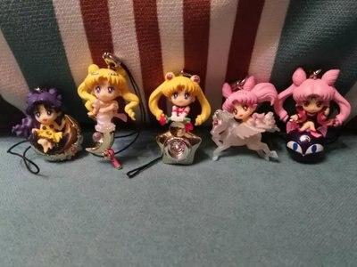 Новые Горячие 5 см 5 шт./компл. Сейлор Мун Luna Чиби США кулон фигурку Коллекция игрушки Рождество подарок