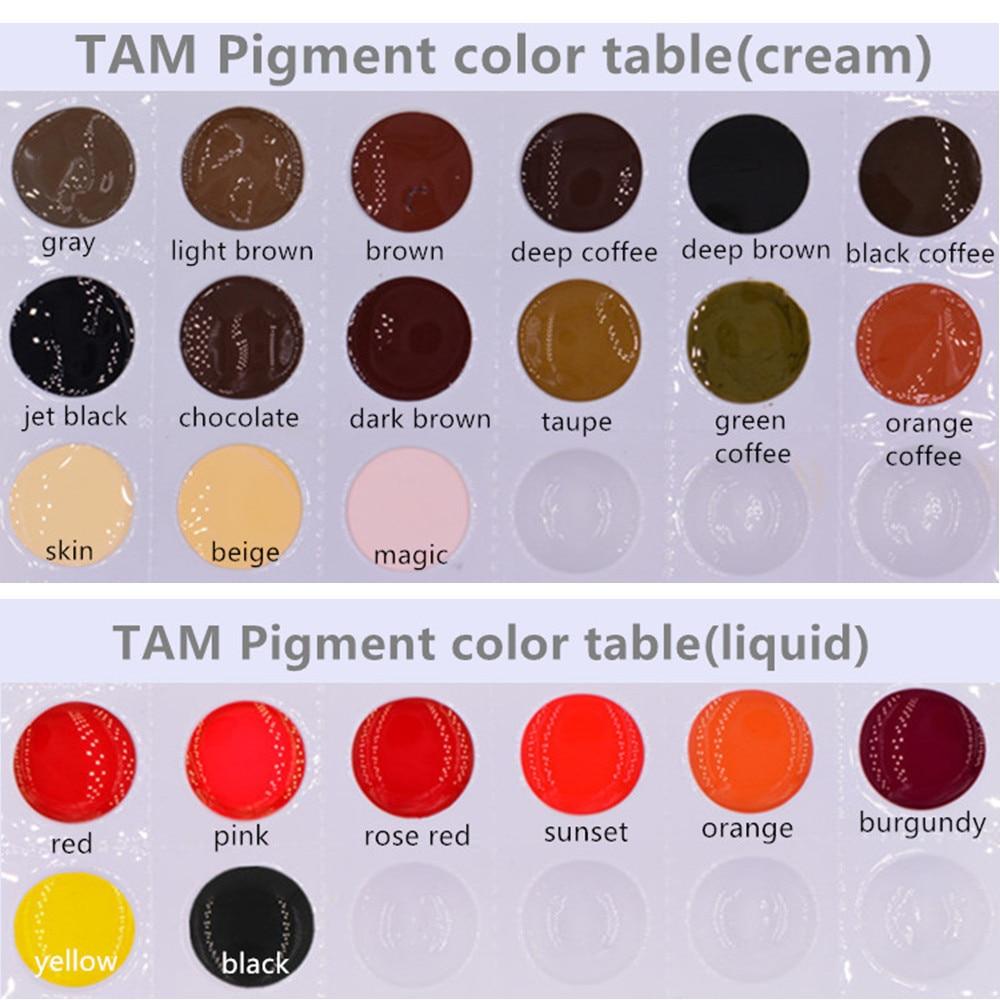 16 st / lot 10ml / flaska Tattoo pigment för ögonbrynsläpp - Tatuering och kroppskonst - Foto 4