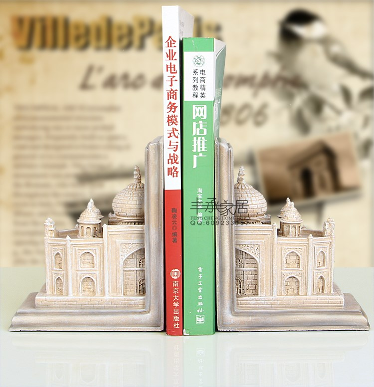 Fashion vintage book end classical bookend brief elegant bookend fashion antique bookend accessories fashion vintage fashion home decoration soft decoration crafts decoration bookend book end