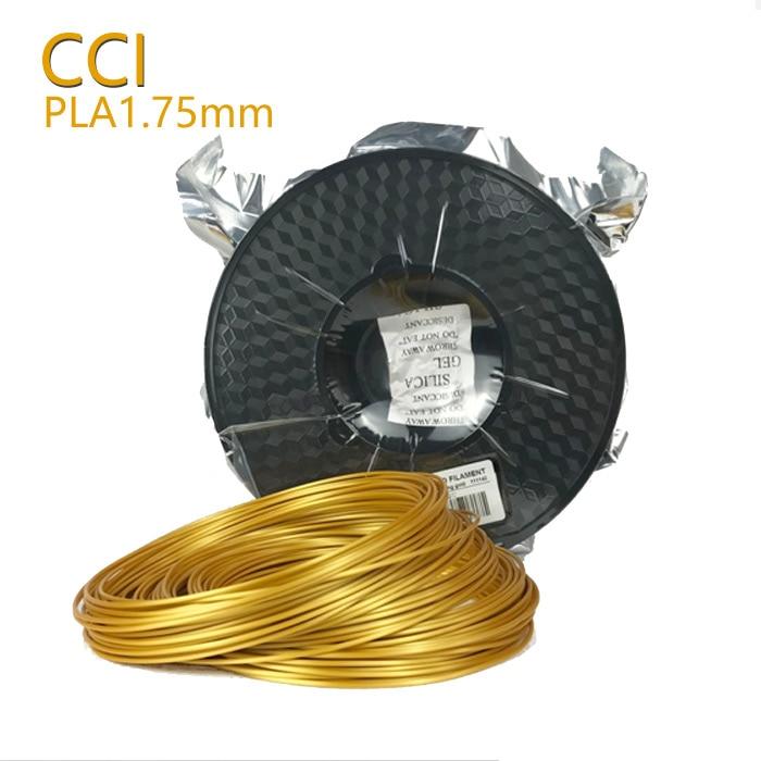 3d material de impresión 0.5kg filamento de seda pla 1.75mm material de impresión plástico ouro cor 3d pluma pinter filamento mostra ouro