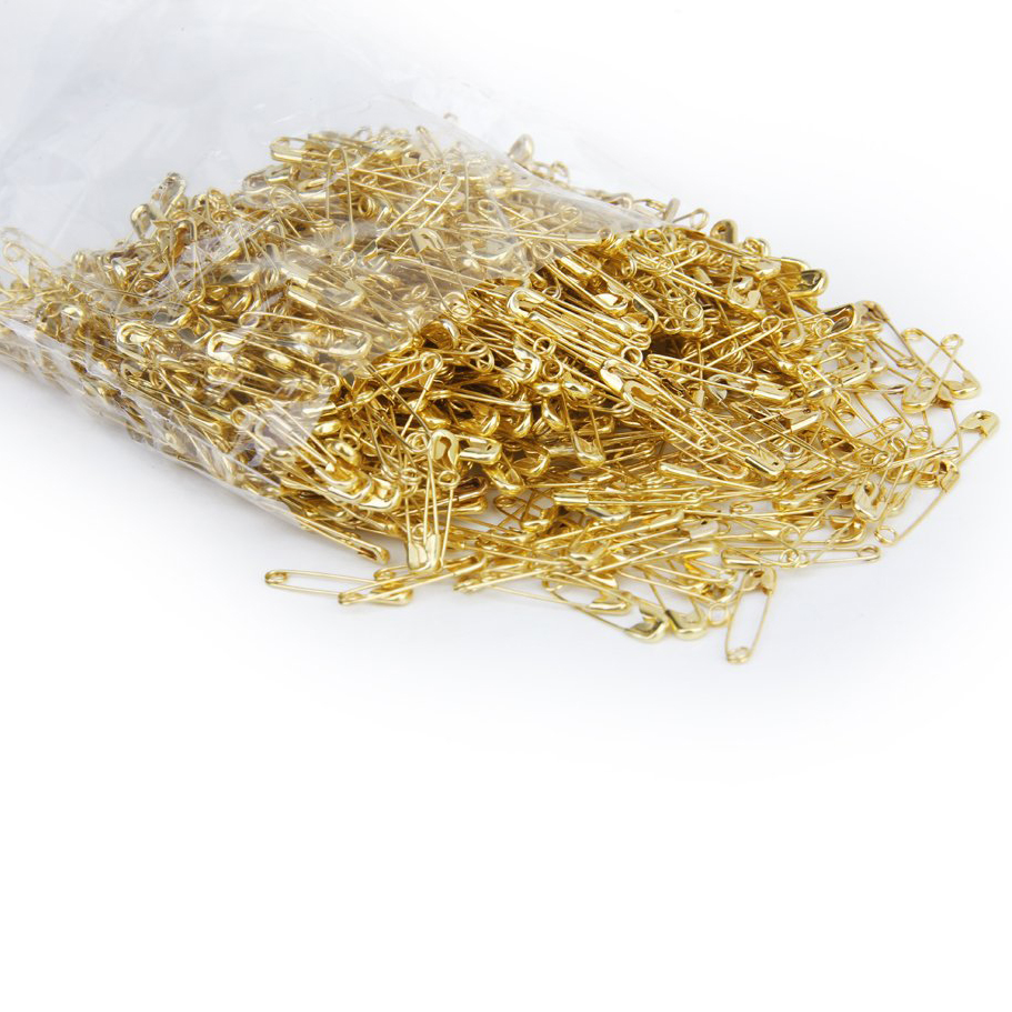 Lot of 1000 Pcs Pins safety pins pins of nurse in Metal 20 mm - gold