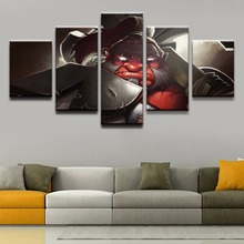 5 Panel Modern Canvas Printed Game Poster Axe DOTA 2 Home Decor Wall Art Painting Pictures Artwork Decoration Cuadros