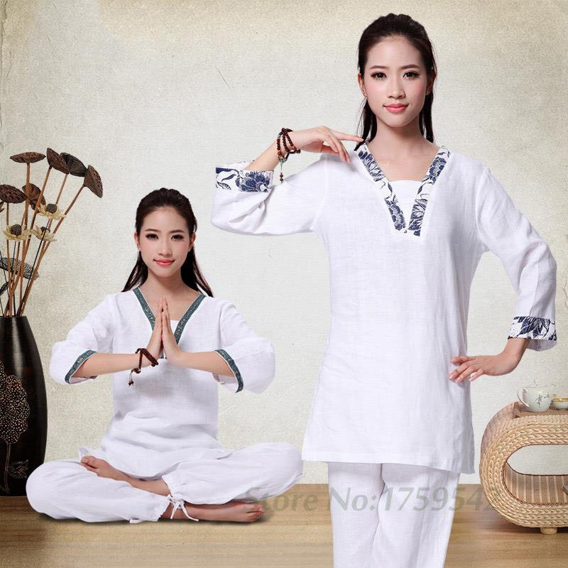 Flax Yoga Suits The New Spring and Summer 2016 More Meditation Yoga Clothing Suit Lay Clothes brand 2016 spring summer yoga clothing set cotton linen meditation clothes high quality women buddhist set sports suits kk395 20