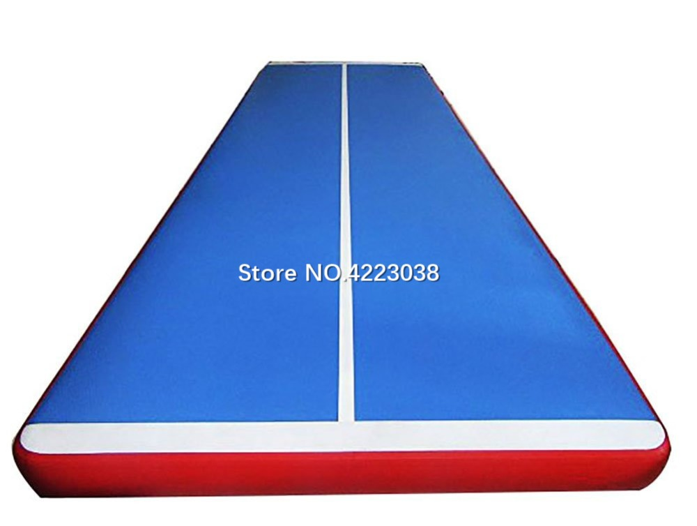 Gymnastic Air Track Tumbling Mat with Free Pump for Home Use, Cheerleading, Water, Park and Beach 6x1x0.2m Gymnastic Air Track Tumbling Mat with Free Pump for Home Use, Cheerleading, Water, Park and Beach 6x1x0.2m