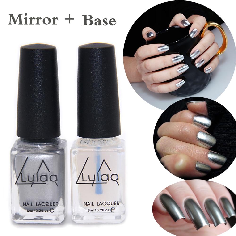 Buy 2pc lot 6ml silver mirror effect for Mirror nail polish