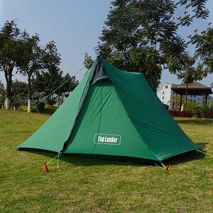 Image 3 - A 피크 울트라 라이트로드 레스 텐트 1 2 인 캠핑 하이킹 트레킹 배낭 방수 20D 텐트 솔로 싱글 Bivvy 텐트
