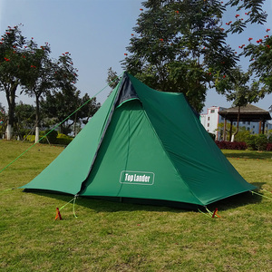 Image 3 - A Peak Ultra light Rodless Tent 1 2 Person for Camping Hiking Trekking Backpacking Waterproof 20D Tent Solo Single Bivvy Tent