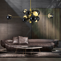 Modern Nordic Pendant Lights Dining Room AC90 260V Hanglamp Globe Shade Hanging Light Black White Lustres