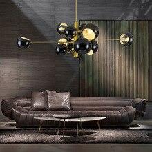 Modern Nordic pendant lights dining room AC90-260V hanglamp globe shade hanging light black white lustres para quarto kitchen C6