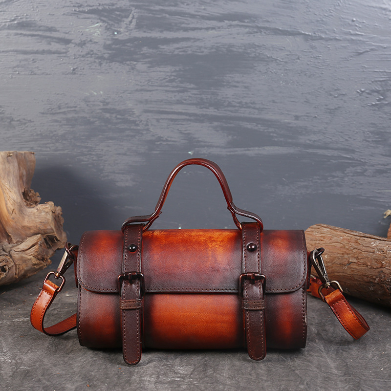 Genuine Leather Women Handbags Bolsa Feminina Brand Designer Cowhide Vintage Brown Crossbody Bags Mini Messenger Bag Sac a main