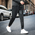 Men's Fashion Casual Black Slim Fit Pants Stretch Jogger comfort Sweatpants  for Boys Men Skinny Trousers with Elastic Waistline