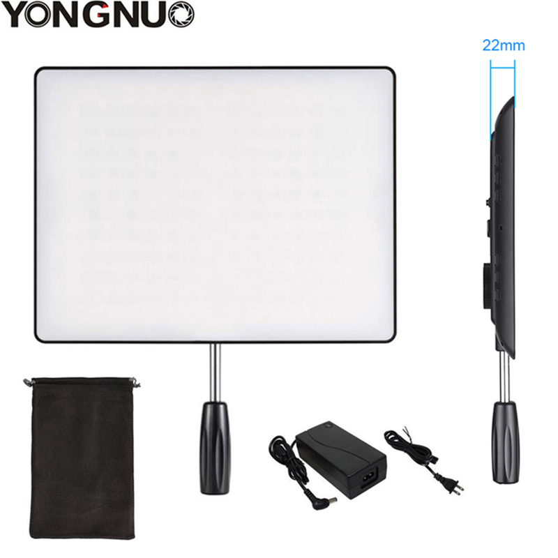 YONGNUO YN600 Air Ultra Thin LED Camera Video Light 3200K 5500K and 5500K AC Power Adapter