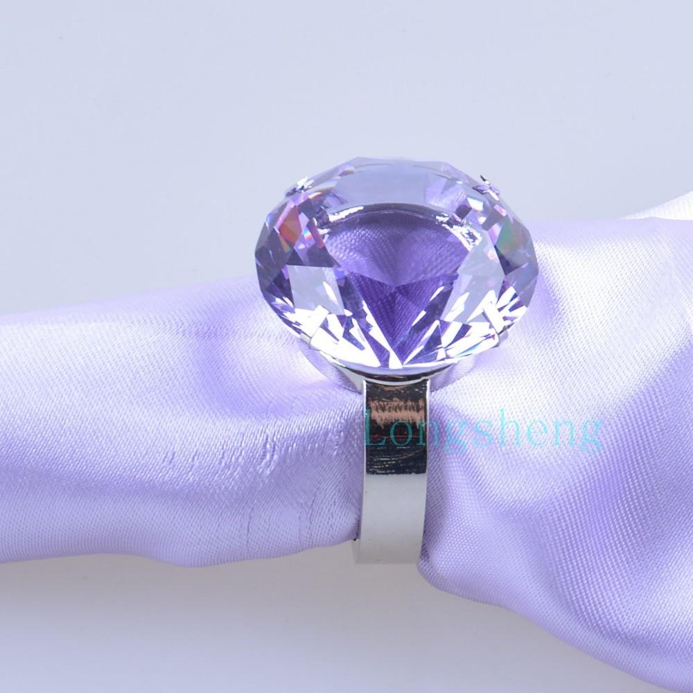 Napkin Rings Crystal Glass Diamond Ring For Wedding Napkin