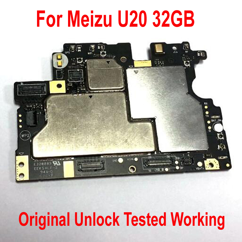 Original Unlock Test Working Mainboard For Meizu U20 32GB Phone Motherboard Card Fee Circuits Flex Cable