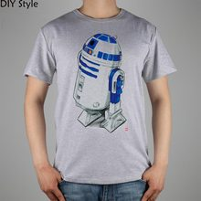 STAR WARS R2D2 T-shirt Top Lycra Cotton Men T shirt