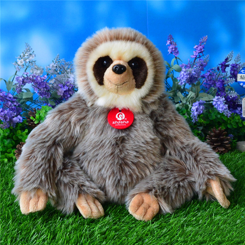 25CM Sloth Plush Toys სიმულაცია Sloths Stuffed Toy Folivora Dolls Cute Simulation Animal Plush Toys უფასო გადაზიდვა