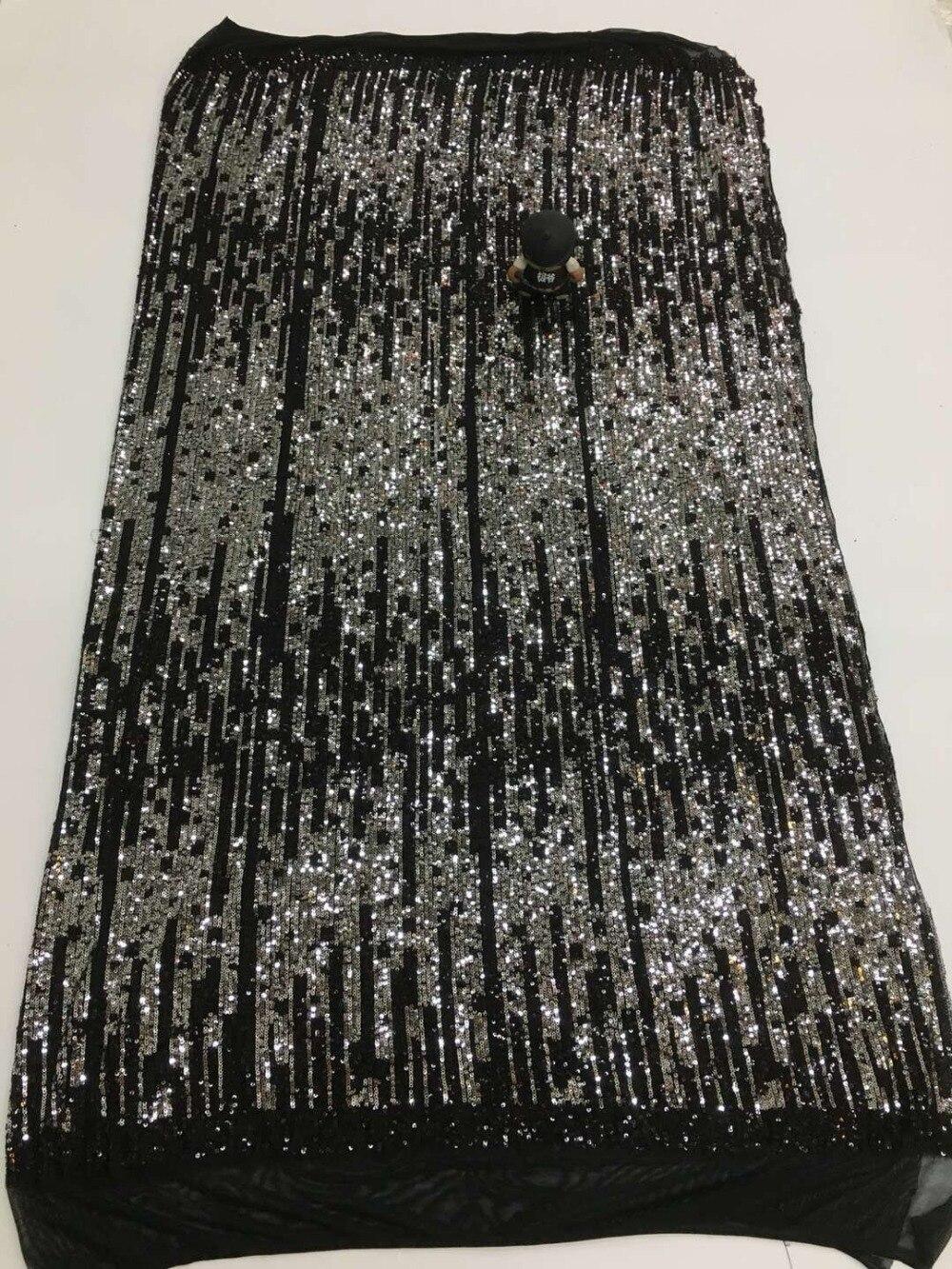 Gorący sprzedawanie JIANXI.C 2206 cekiny haftowane francuski tiulu koronki tkaniny nigerii koronki netto tkanina z cekinami w Koronka od Dom i ogród na  Grupa 1