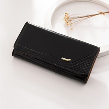 Woman's wallet long Purses lady Fashion Coin Purse Card Holder Female High Quality Clutch Money Bag PU Leather Buckle Wallet 490 new fashion women wallet crocodile pattern high quality purse for female coin purses money card holders ladies buckle purses y3