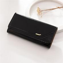 купить Woman's wallet long Purses lady Fashion Coin Purse Card Holder Female High Quality Clutch Money Bag PU Leather Buckle Wallet 490 по цене 486.41 рублей