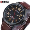 Marca de lujo Militar Reloj de Cuarzo de Los Hombres Correa de Cuero Casual de Negocios Hombre Reloj Reloj Masculino Del Relogio masculino montre reloj
