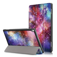 Tempered Glass Screen Protector PU Leather Stand Cover Case For Lenovo TAB4 Tab 4 10 Plus